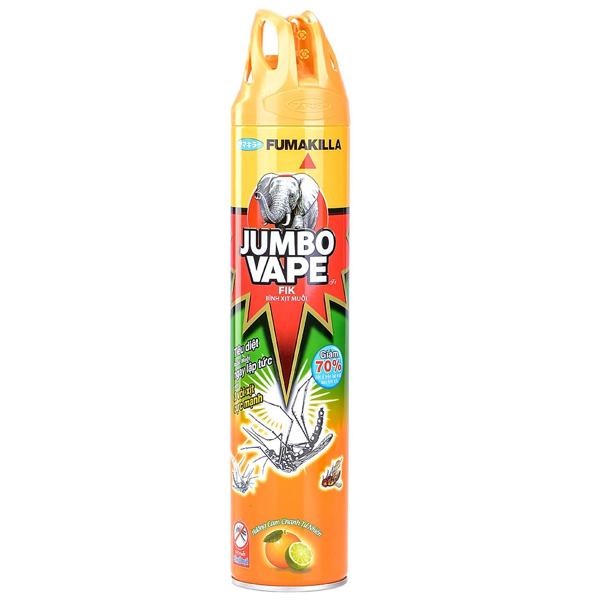 Bình xịt muỗi Jumbo Vape tốt, an toàn và không độc hại