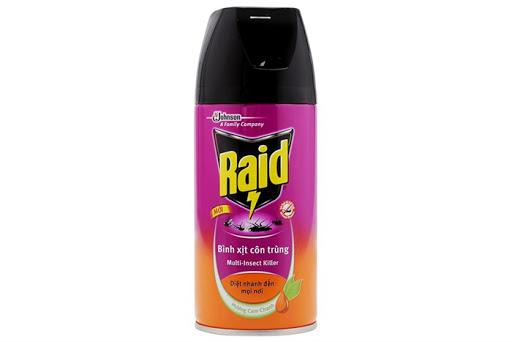 Bình xịt muỗi Raid tốt, an toàn và không độc hại